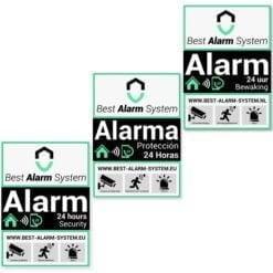 AJAX alarmsysteem waarschuwingsbordjes