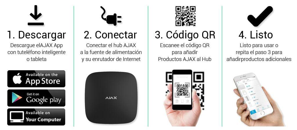 Instrucciones de instalación Sistema de alarma AJAX